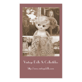 A Vintage Doll Affair Double-Sided Standard Business Cards (Pack Of 100)