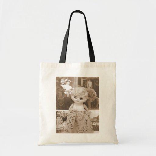 A Vintage Doll Affair Canvas Bags