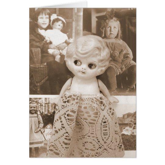 A Vintage Doll Affair Card