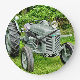 A Vintage Ferguson Tractor Large Clock
