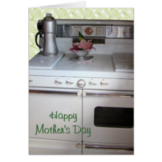 A Vintage Gas Range- customize Greeting Card
