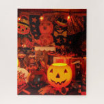 """A Vintage Halloween Puzzle<br><div class=""""desc"""">The warm glow of a vintage Halloween! This is a detail from my 2017 Halloween display.</div>"""