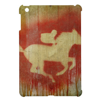 A vintage horse design red cover for the iPad mini