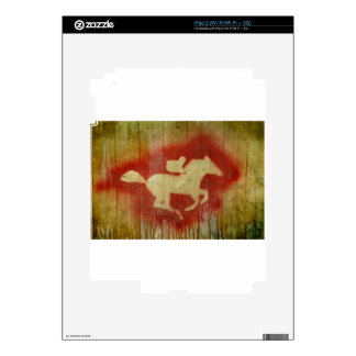 A vintage horse design red decal for iPad 2