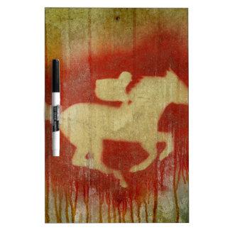 A vintage horse design red Dry-Erase board