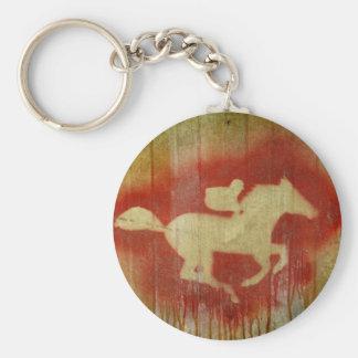 A vintage horse design red keychain