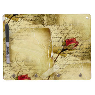A Vintage Love Letter Dry Erase Board With Keychain Holder