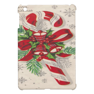 A Vintage Merry Christmas Candy Cane Case For The iPad Mini
