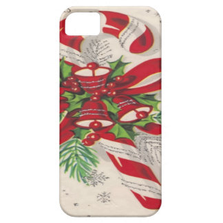 A Vintage Merry Christmas Candy Cane iPhone SE/5/5s Case