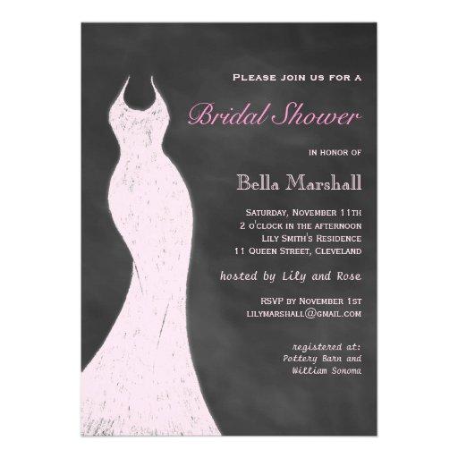 A Vintage Pink Bridal Shower Invitation