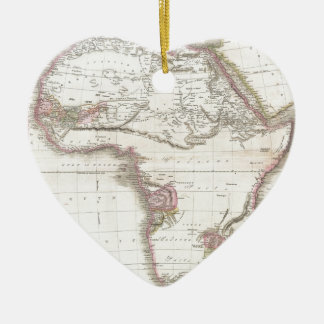 A Vintage Pinkerton Map of Africa Ceramic Ornament