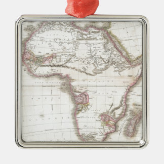 A Vintage Pinkerton Map of Africa Metal Ornament