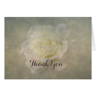 A Vintage Rose Romance Thank-You Card