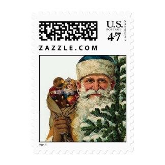 A Vintage Santa Stamp