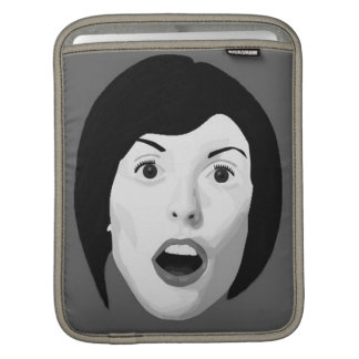 A vintage style portrait of a surprised woman sleeve for iPads