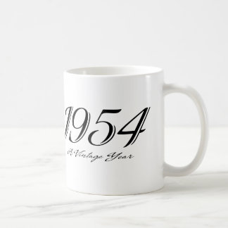 a vintage year 1954 mug