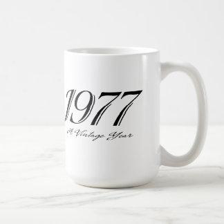 a vintage year 1977 mug