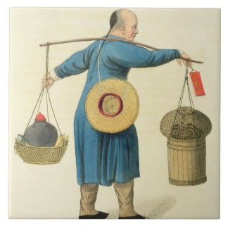 A Viper Seller, plate 46 from 'The Costume of Chin Tile