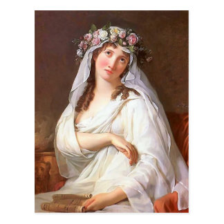 A Virgin Crowned With Flowers by Jacques David Postcard