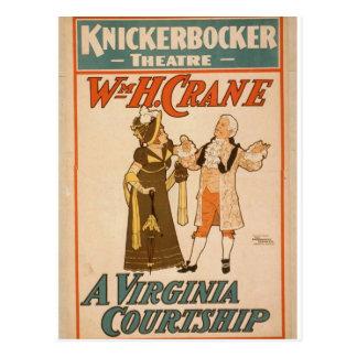 A Virginia Courtship, WmH.Crane Retro Theater Post Cards