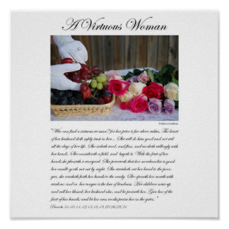 A Virtuous Woman - By Rebecca Huffman (12x12) Poster