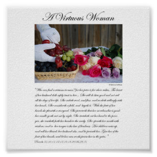 A Virtuous Woman - by Rebecca Huffman (6x6) Poster