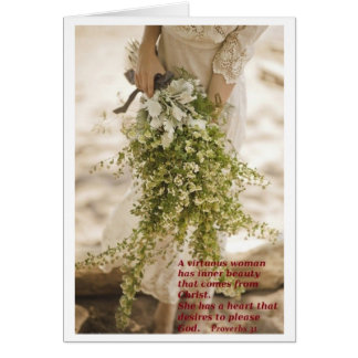 A Virtuous Woman...Note card size