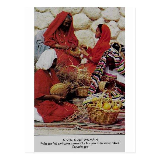 a virtuous woman postcard