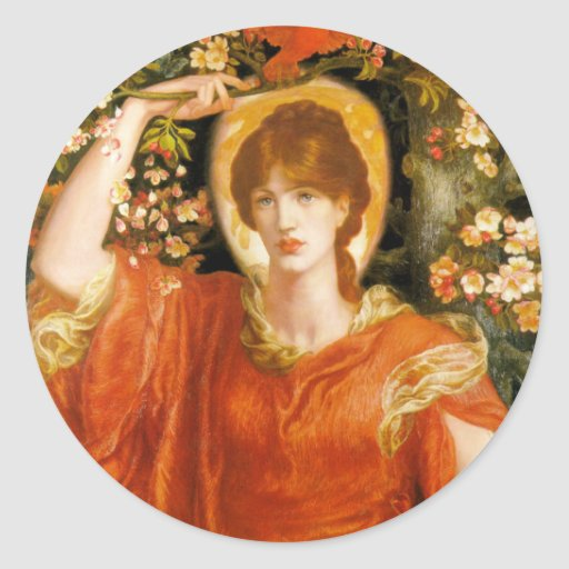 A Vision of Fiammetta - Dante Gabriel Rossetti Classic Round Sticker
