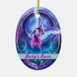 A visit from an angel? Personalized Door Hangers Double-Sided Oval Ceramic Christmas Ornament