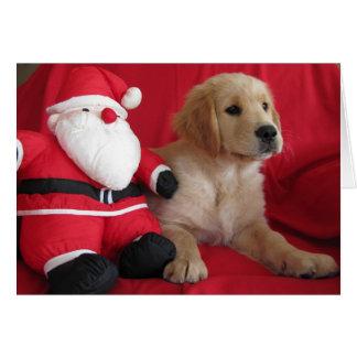 A visit from Santa Greeting Card