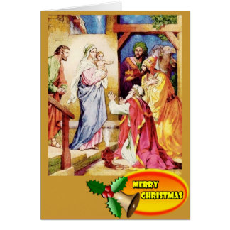 A visit of the three wise men card