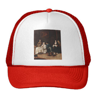 A Visit to a Lord by Pietro Longhi Mesh Hats