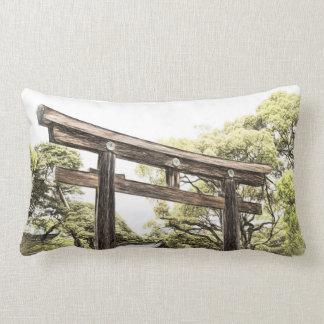A Visit to Japan Throw Pillow