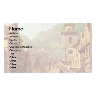 A Visit To The Country'S Father By Spitzweg Carl Business Card