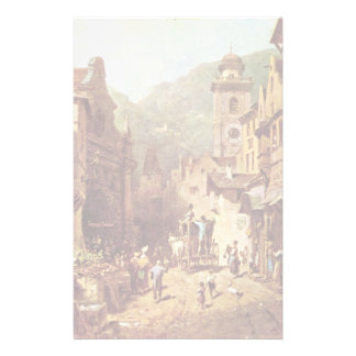 A Visit To The Country'S Father By Spitzweg Carl Custom Stationery