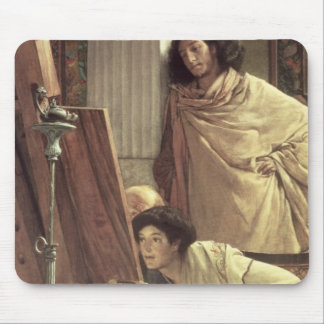 A Visit to the Studio, 1873 (oil on canvas) Mouse Pad