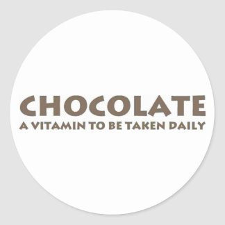 A Vitamin to be Taken Daily Classic Round Sticker