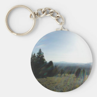 A Volcanic Landscape In A Meadow Non The San Frans Keychains