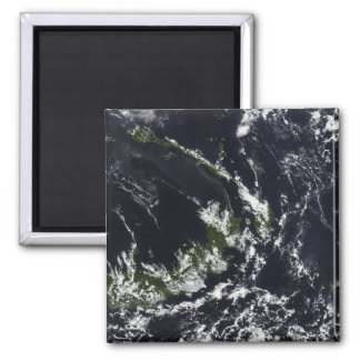 A volcanic plume from the Rabaul caldera 2 Inch Square Magnet