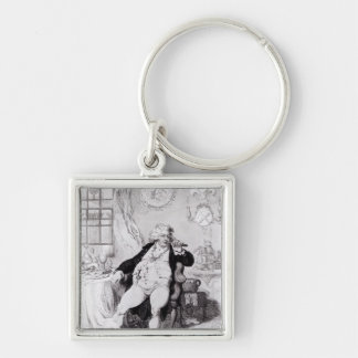 A Voluptuary under the Horrors of Digestion Silver-Colored Square Keychain