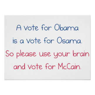 A Vote for Obama Poster