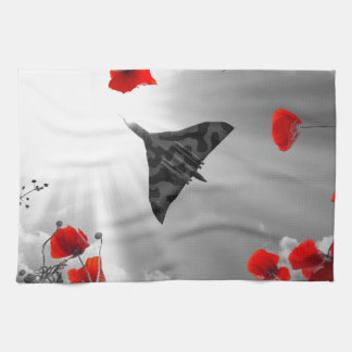 A Vulcan Poppy red Kitchen Towels