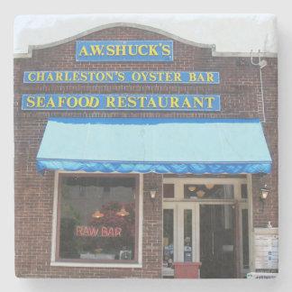A.W. Shuck's Oyster Bar Restaurant Charleston, SC. Stone Coaster