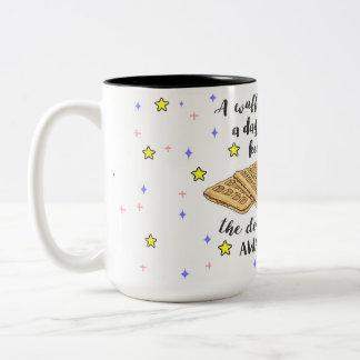 A Waffle a day Keeps the Doctor Away! Two-Tone Coffee Mug