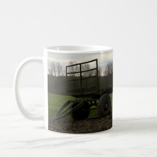 A wagon in a Dutch meadow Classic White Coffee Mug