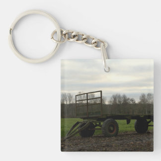 A wagon in a Dutch meadow Acrylic Keychains