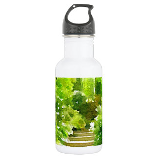 A Walk Among the Ferns Stainless Steel Water Bottle
