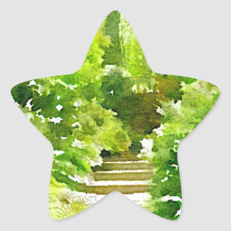 A Walk Among the Ferns Star Sticker