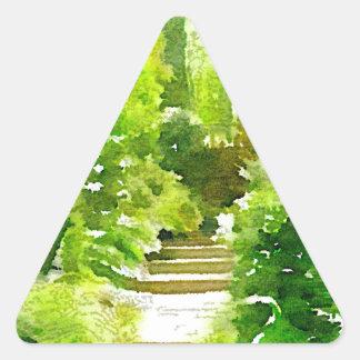 A Walk Among the Ferns Triangle Sticker